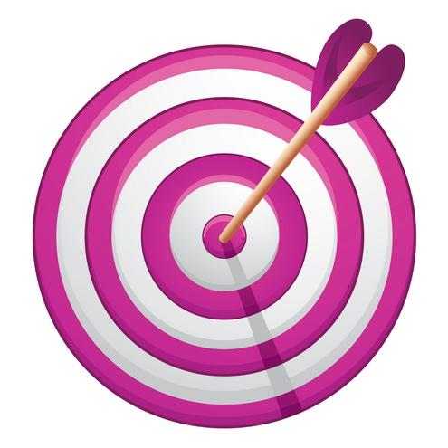 Розовая цель для МЛМ.