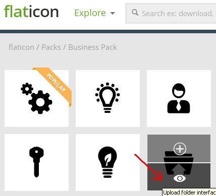 Выбор иконки на flaticon.com